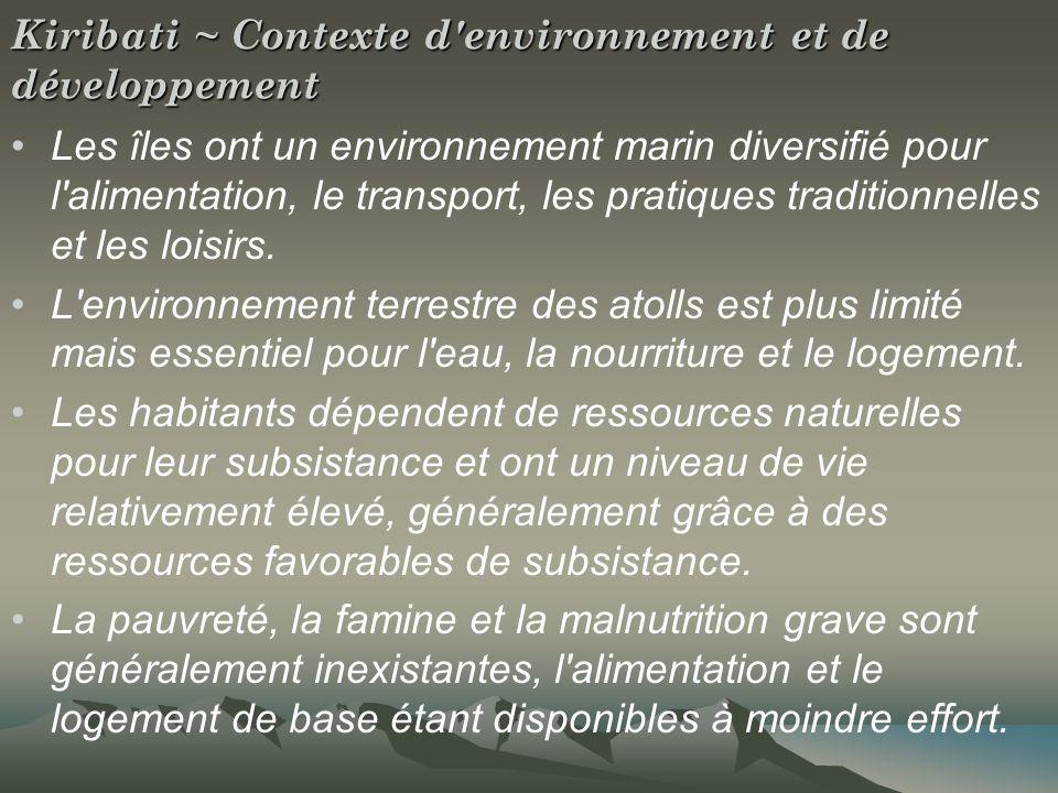 Contexte de l environnement et du développement suite La transition dominante du style de vie traditionnel à une économie contemporaine basée sur le marché a soulevé de grandes questions.