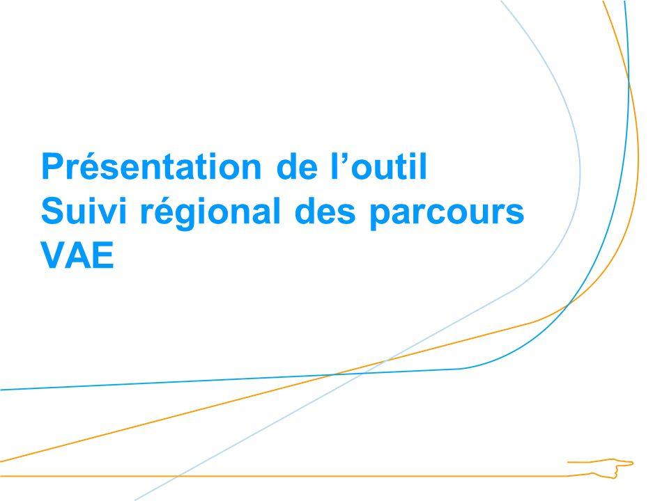 Présentation de loutil Suivi régional des parcours VAE