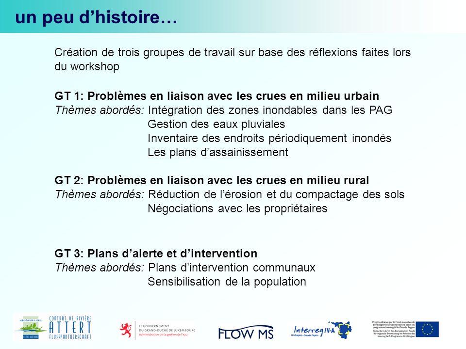 juin-septembre 2010: quatre réunions des groupes de travail un peu dhistoire… 22 novembre 2010 : Validation des résultats en plénière objectif: dresser un état des lieux et définir des champs de travail