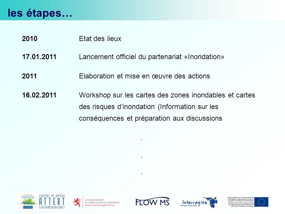 www.attert.comwww.attert.com : permet de télécharger les présentations PowerPoint et les rapports des différentes réunions de lannée 2010.