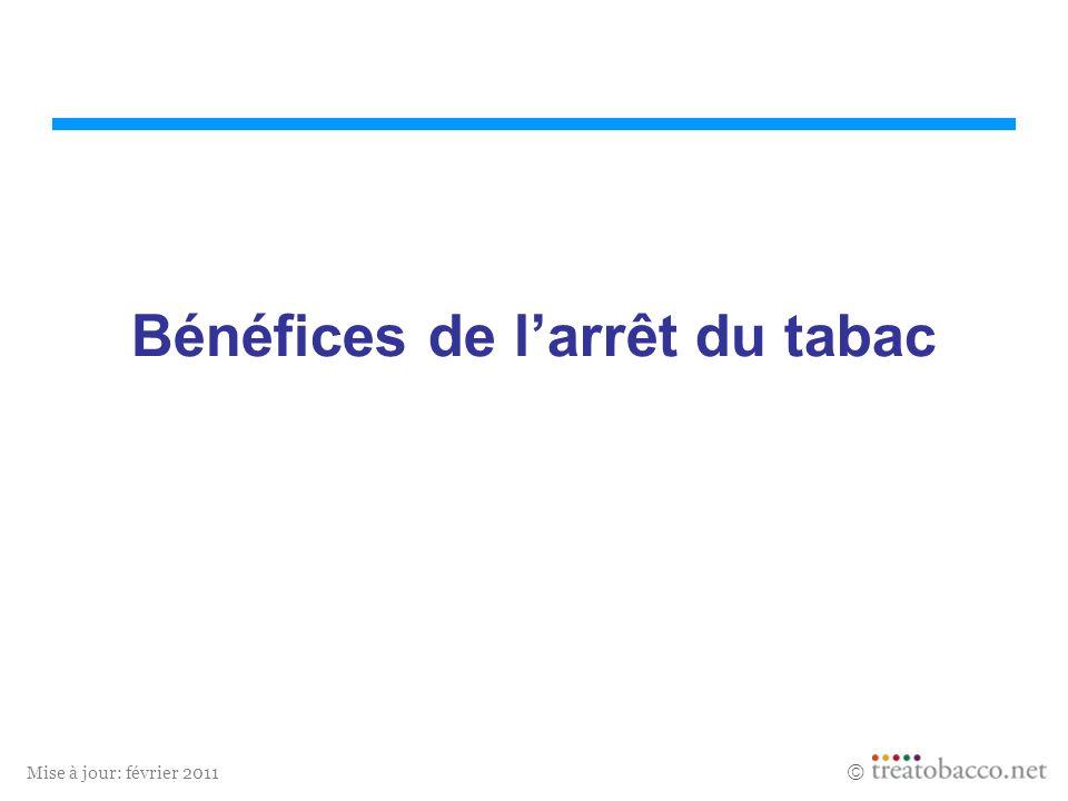 Mise à jour: février 2011 Bénéfices de larrêt du tabac