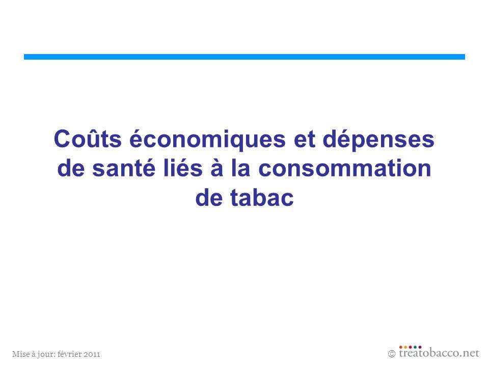 Mise à jour: février 2011 Coûts économiques et dépenses de santé liés à la consommation de tabac