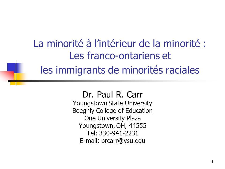 2 Points de départ Comment comprendre la construction identitaire des francophones de lOntario .