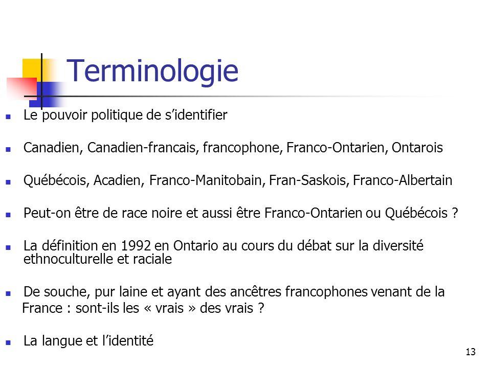 14 La langue et le recensement (SOURCE : Statistiques Canada) « Les variables linguistiques principales (utilisées le plus souvent pour le classement d une population selon les capacités linguistiques) sont : la langue maternelle, la langue parlée à la maison et la connaissance des langues officielles (et non-officielles).