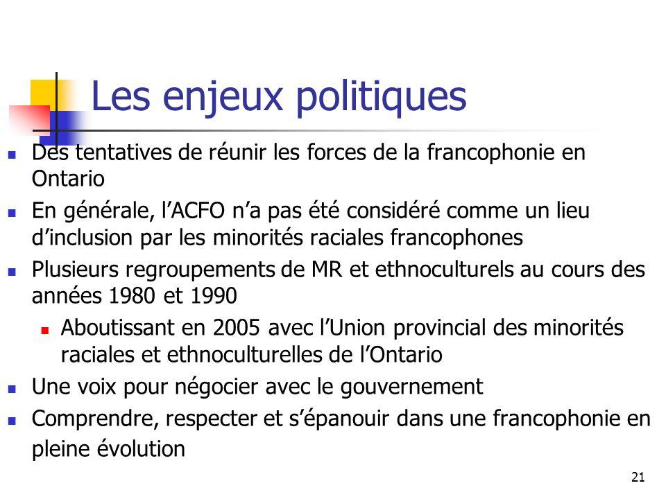 22 Discussion Comment en même temps revendiquer la langue française et des cultures francophones .
