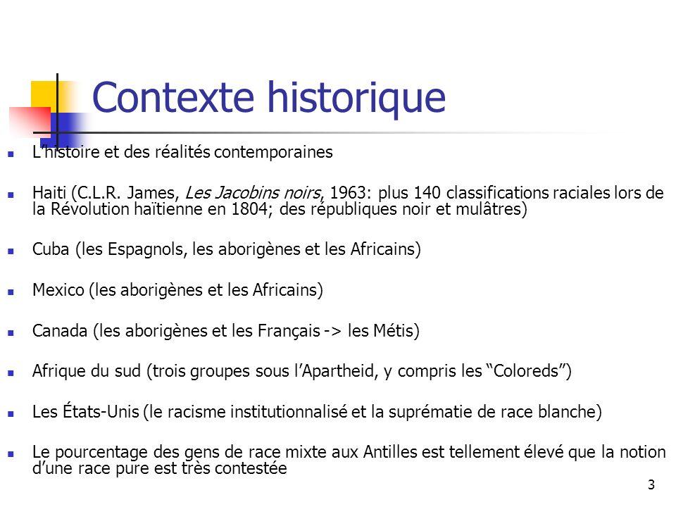 3 Contexte historique Lhistoire et des réalités contemporaines Haiti (C.L.R.