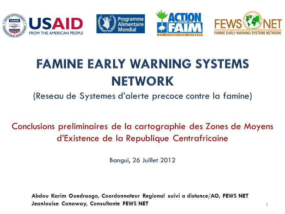1 Abdou Karim Ouedraogo, Coordonnateur Regional suivi a distance/AO, FEWS NET Jeanlouise Conaway, Consultante FEWS NET