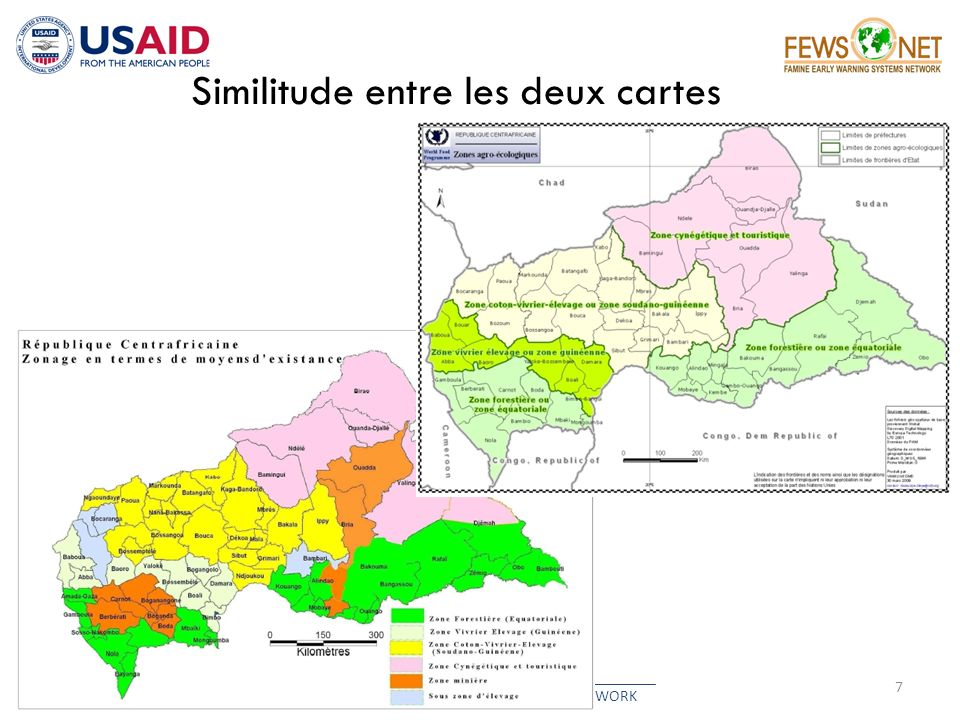 Similitude entre les deux cartes 7 __________________________________________ FAMINE EARLY WARNING SYSTEMS NETWORK
