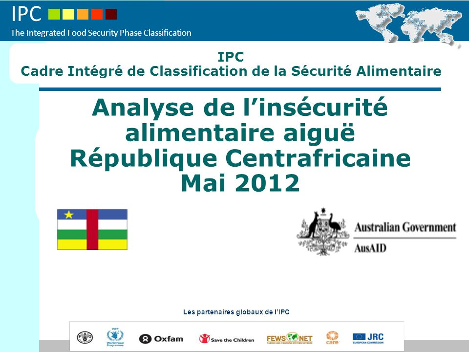 IPC The Integrated Food Security Phase Classification REGION 1 (Ombella-Mpoko et Lobaye) Phase 2 Population totale 716 555 habitants Lagriculture constitue la principale source des revenus des populations.