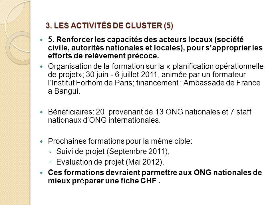 3.LES ACTIVITÉS DE CLUSTER (5) 5.