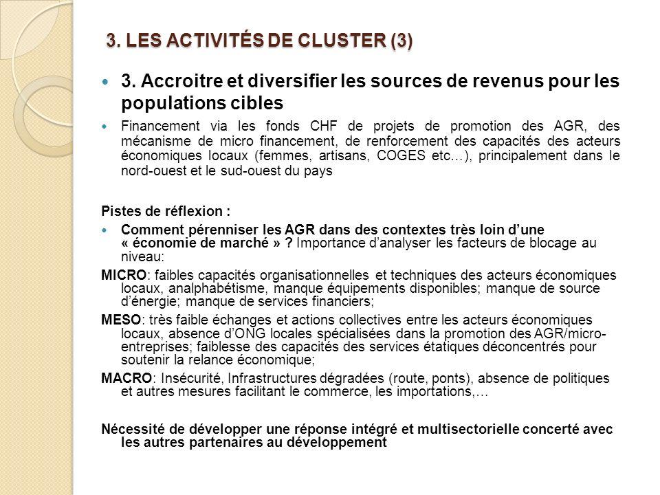 3.LES ACTIVITÉS DE CLUSTER (3) 3.