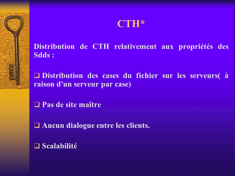 CTH* : Variantes