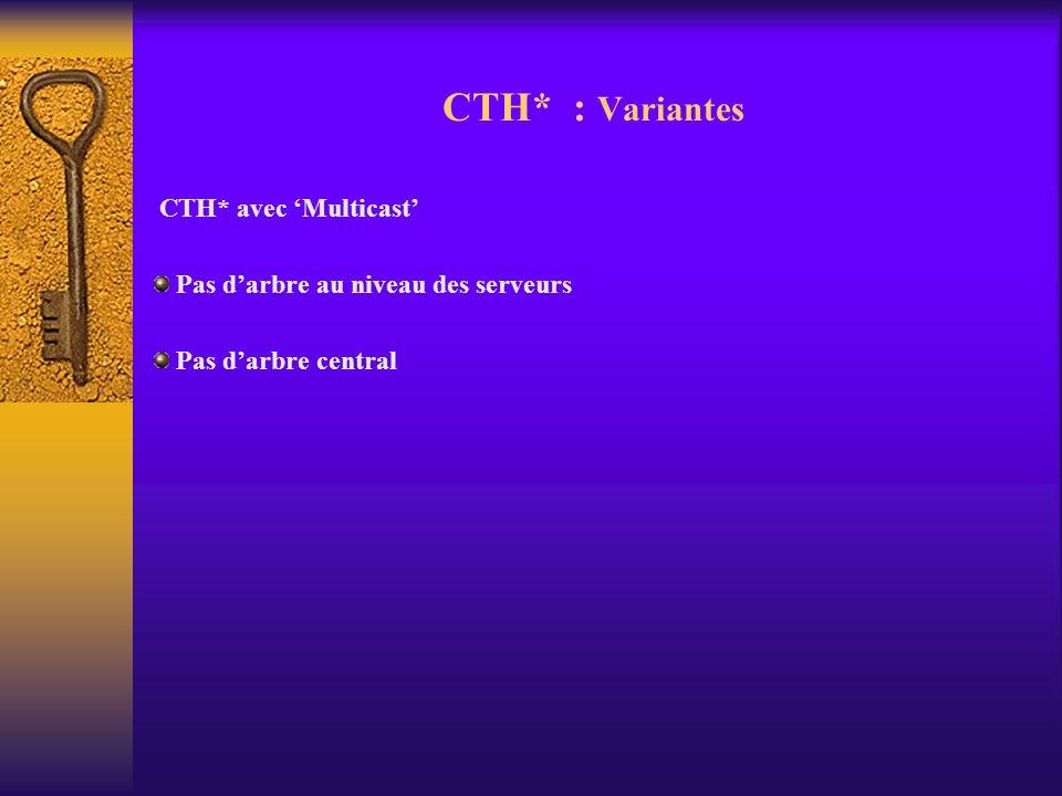CTH* avec Multicast Pas darbre au niveau des serveurs Pas darbre central