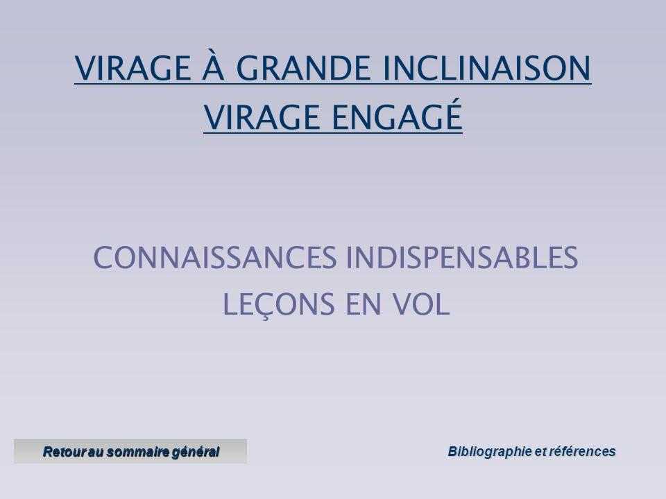 VIRAGE À GRANDE INCLINAISON Objectifs : effectuer des virages à grande inclinaison : Version 1 Version 1 – janvier 2005 sans risquer le départ en vira