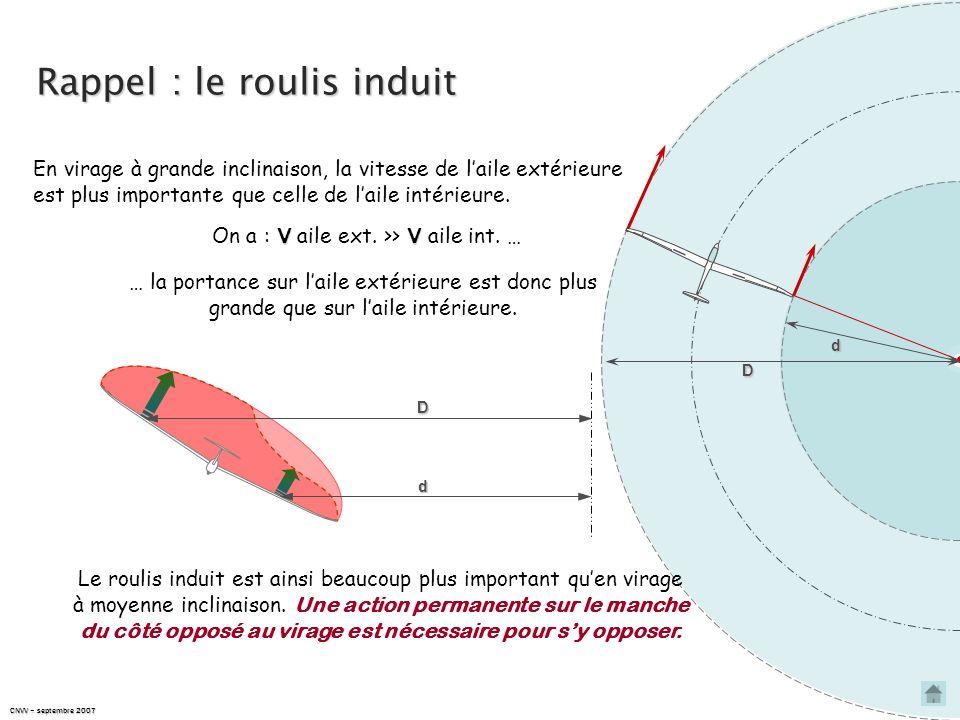 ROULIS INDUIT & SYMÉTRIE DU VOL EN VIRAGE À GRANDE INCLINAISON
