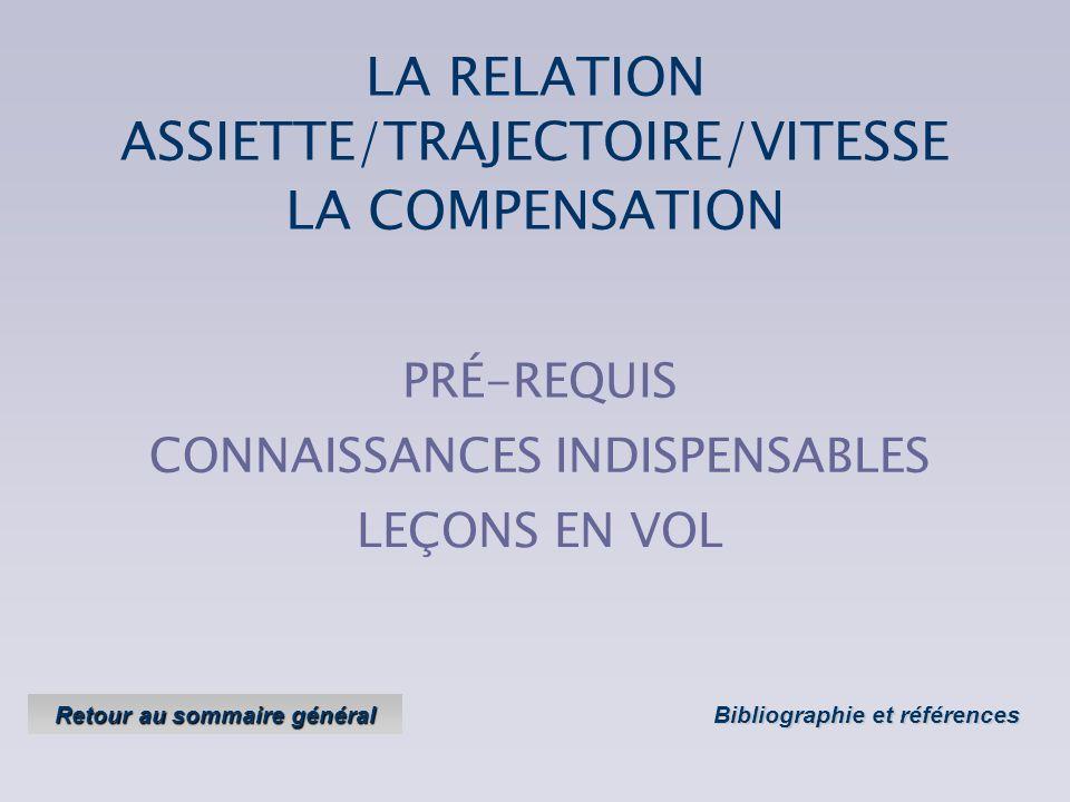 LA RELATION ASSIETTE/TRAJECTOIRE/VITESSE Objectifs : Savoir prendre et maintenir une vitesse précise ; Version 2 Version 2 - avril 2004 Annuler les ef