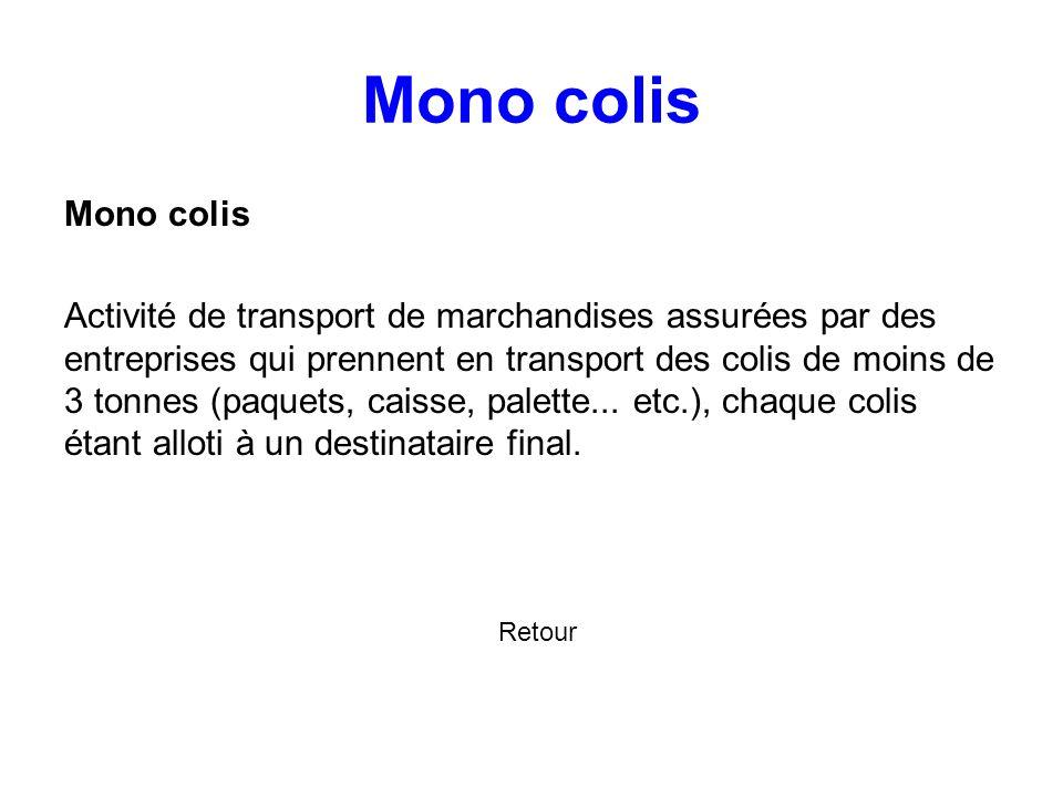 4.4.2 1ère application du principe de massification : l'utilisation de plates- formes Suivant Pour remplir les camions, les sociétés de transport en m
