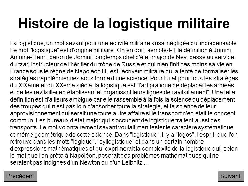 Chapitre 6 - Compléments Suivant Histoire de la logistique militaire Y a-t-il une réticence des entreprises françaises face au concept de Supply chain