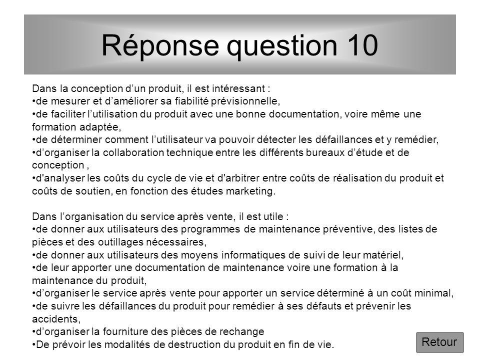 Question Lectures complémentaires : Voir les § 10.1 et 10.2 du chapitre 10 de