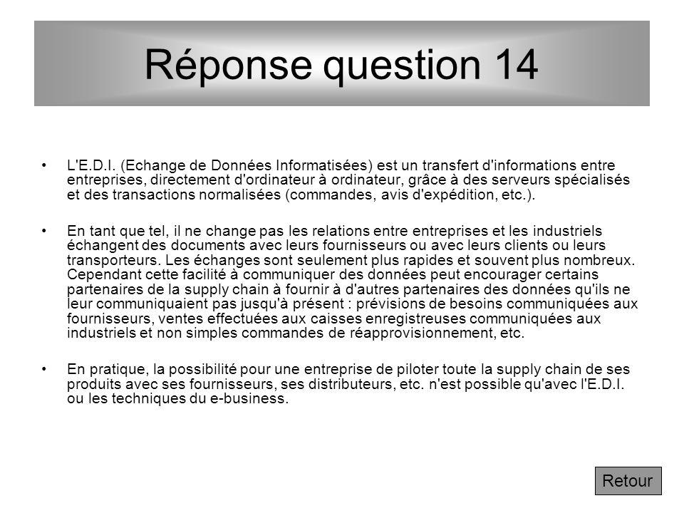 Question 14 - Après la lecture complémentaire ci-dessus, qu'est ce que l'E.D.I. et en quoi cette technique peut - elle aider à faire tomber les