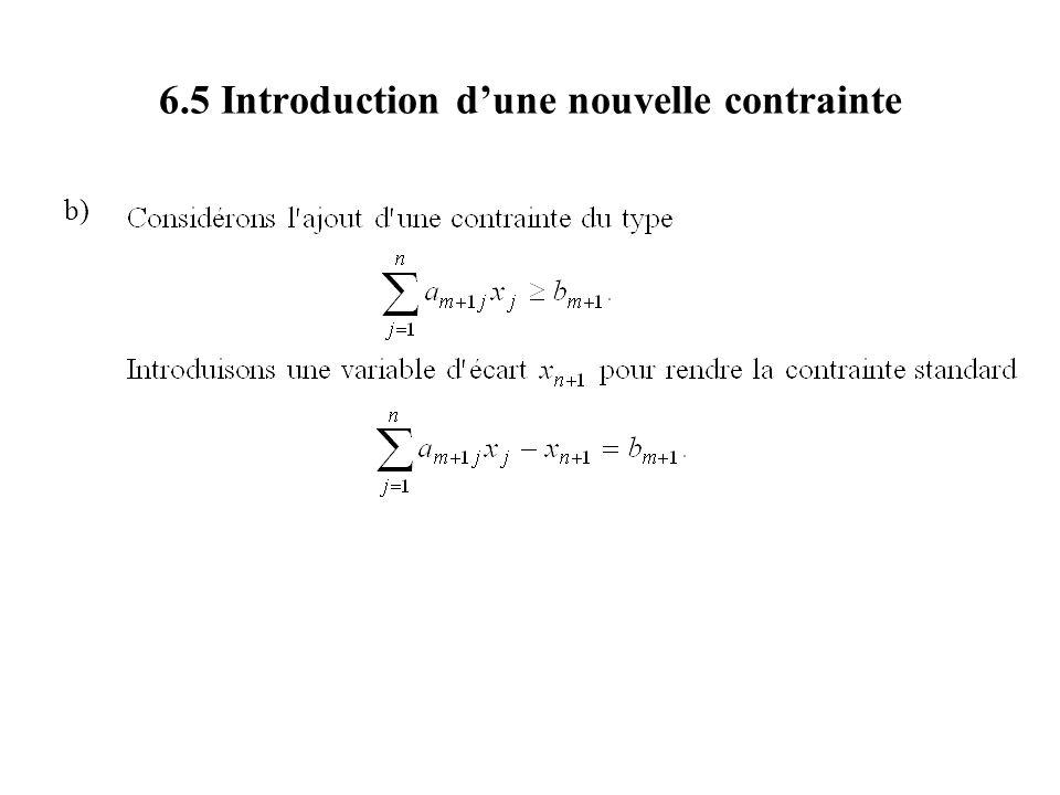 6.5 Introduction dune nouvelle contrainte b)