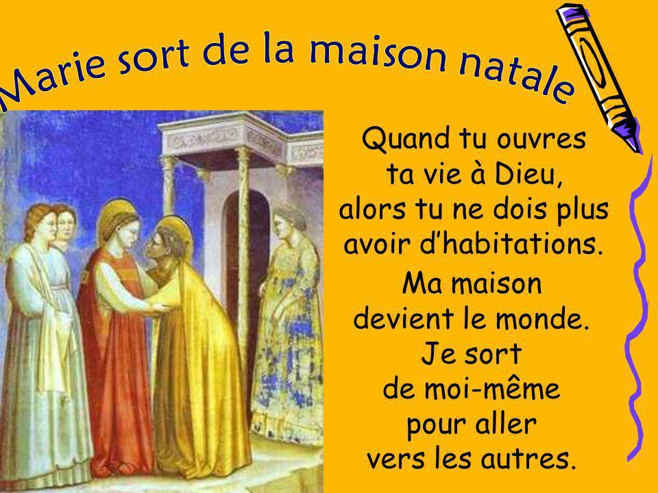 Ceux-ci entre Marie et Elisabeth sont les premiers mots qui, dans lÉvangile de Luc, échangent deux être humains.
