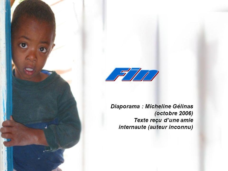 Diaporama : Micheline Gélinas (octobre 2006) Texte reçu dune amie internaute (auteur inconnu)