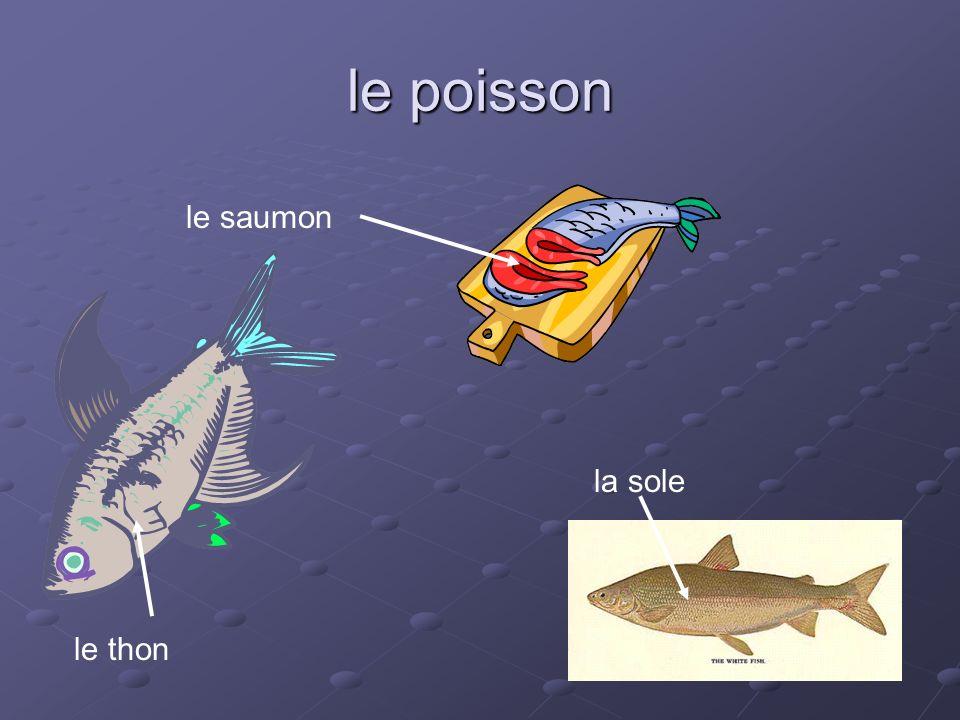 le poisson le thon le saumon la sole