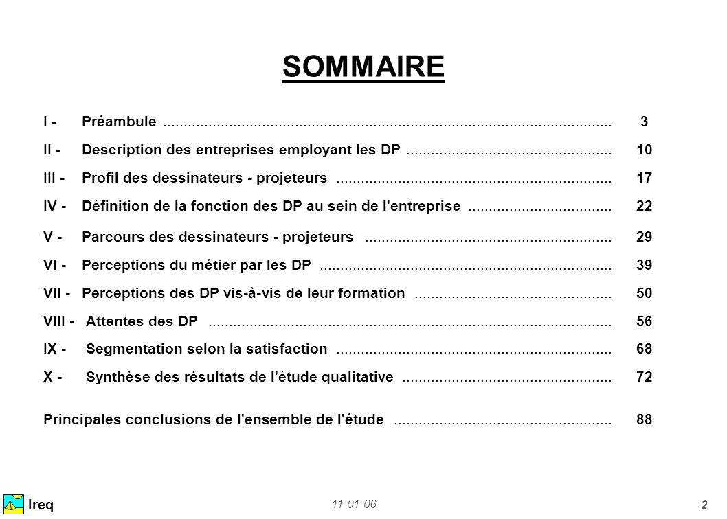 11-01-06 3 I - Préambule Ireq