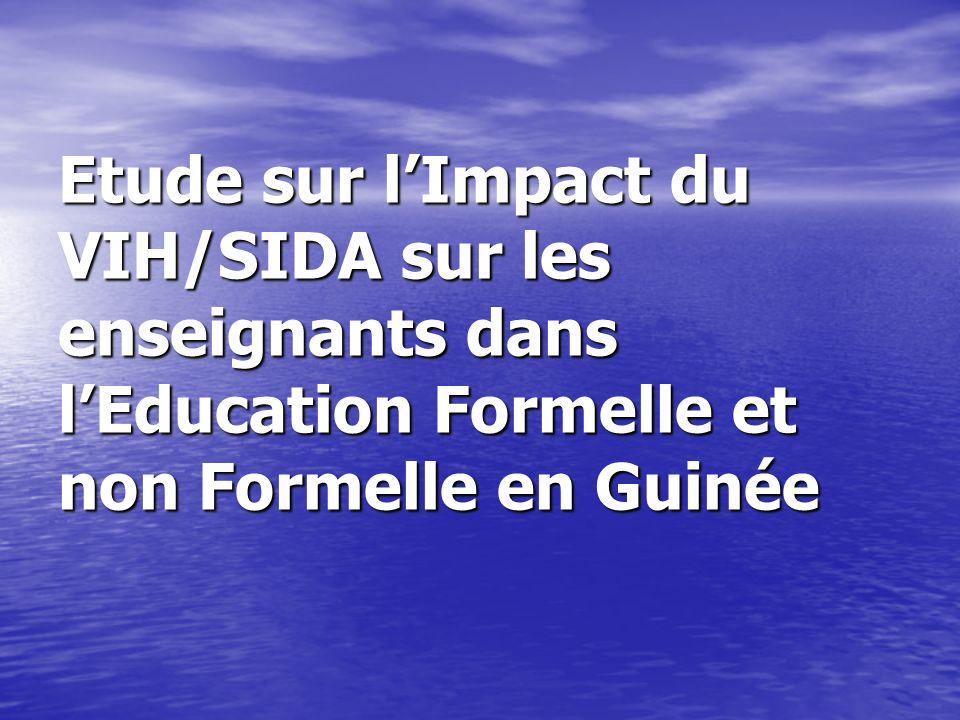 Etude sur lImpact du VIH/SIDA sur les enseignants dans lEducation Formelle et non Formelle en Guinée