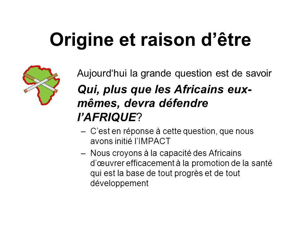 Origine et raison dêtre Aujourdhui la grande question est de savoir Qui, plus que les Africains eux- mêmes, devra défendre lAFRIQUE.