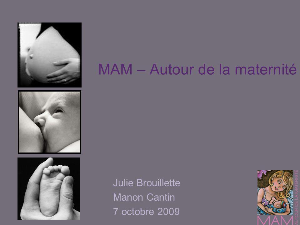 MAM – Autour de la maternité Julie Brouillette Manon Cantin 7 octobre 2009