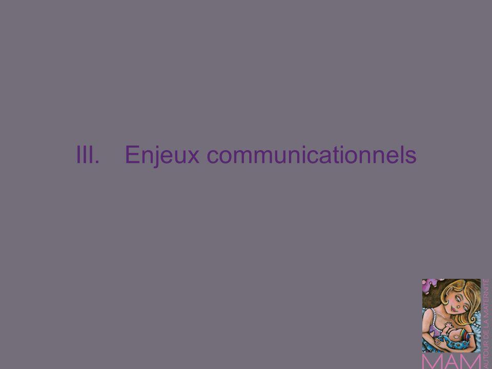 III.Enjeux communicationnels