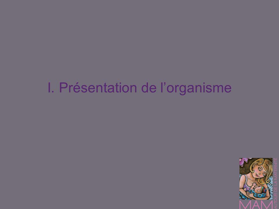 I. Présentation de lorganisme