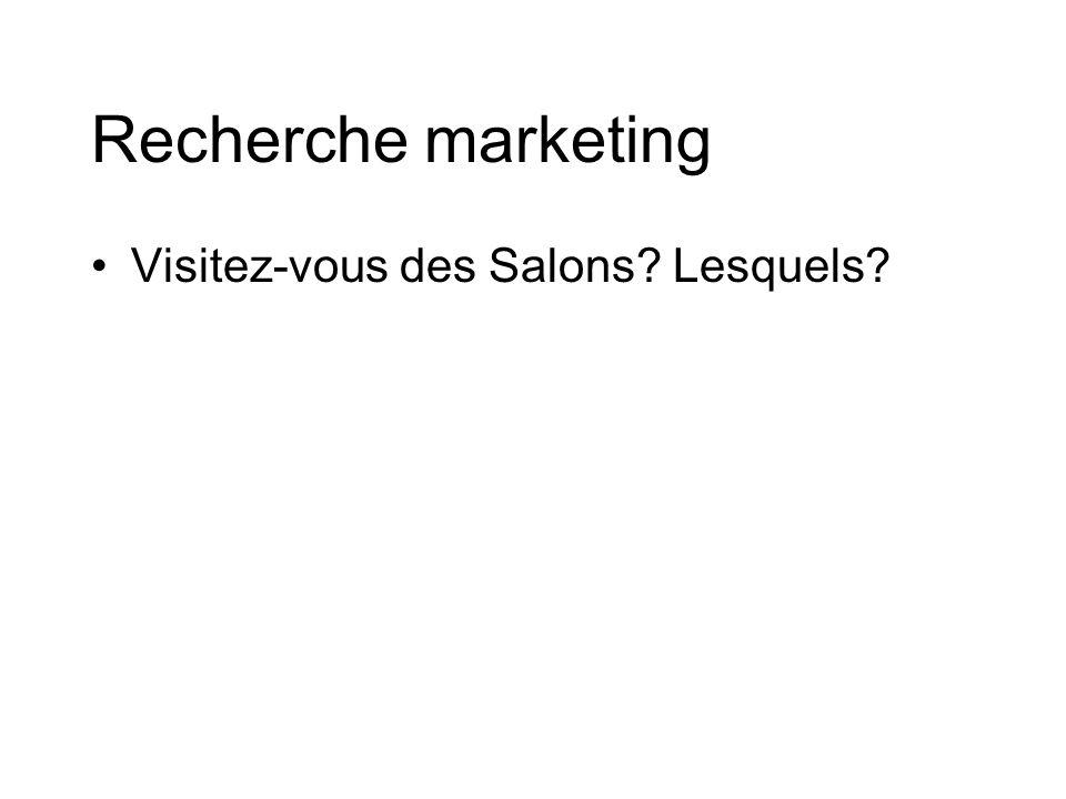 Recherche marketing Visitez-vous des Salons Lesquels