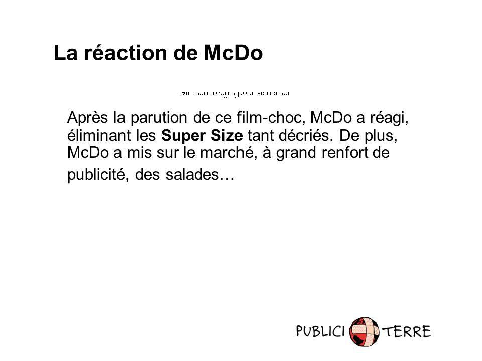 Après la parution de ce film-choc, McDo a réagi, éliminant les Super Size tant décriés.