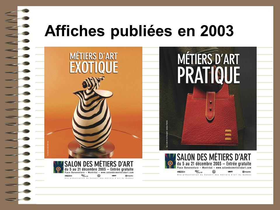 Affiches publiées en 2003