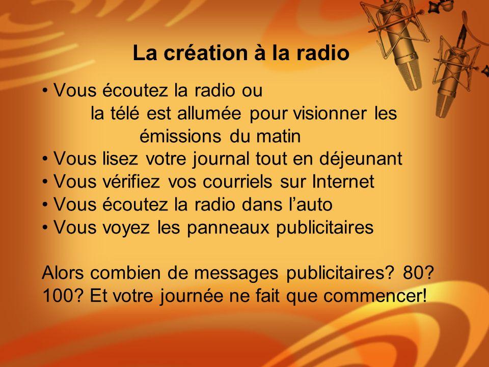 Vous écoutez la radio ou la télé est allumée pour visionner les émissions du matin Vous lisez votre journal tout en déjeunant Vous vérifiez vos courri