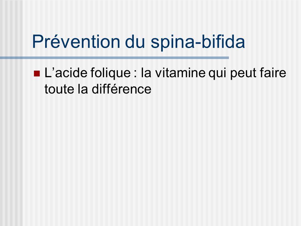 Prévention du spina-bifida Lacide folique : la vitamine qui peut faire toute la différence