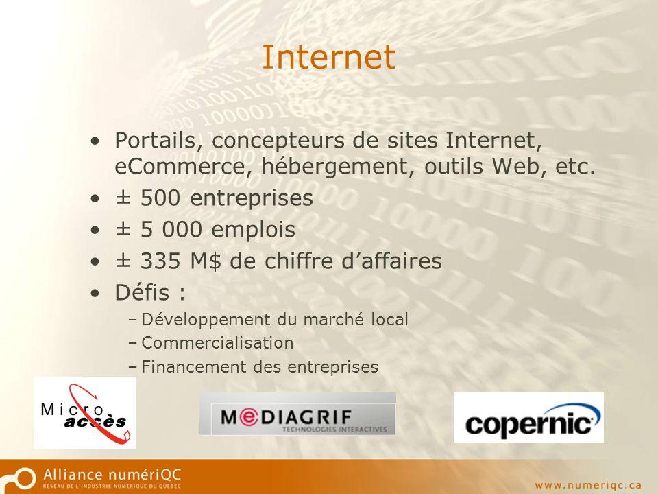 Internet Portails, concepteurs de sites Internet, eCommerce, hébergement, outils Web, etc.