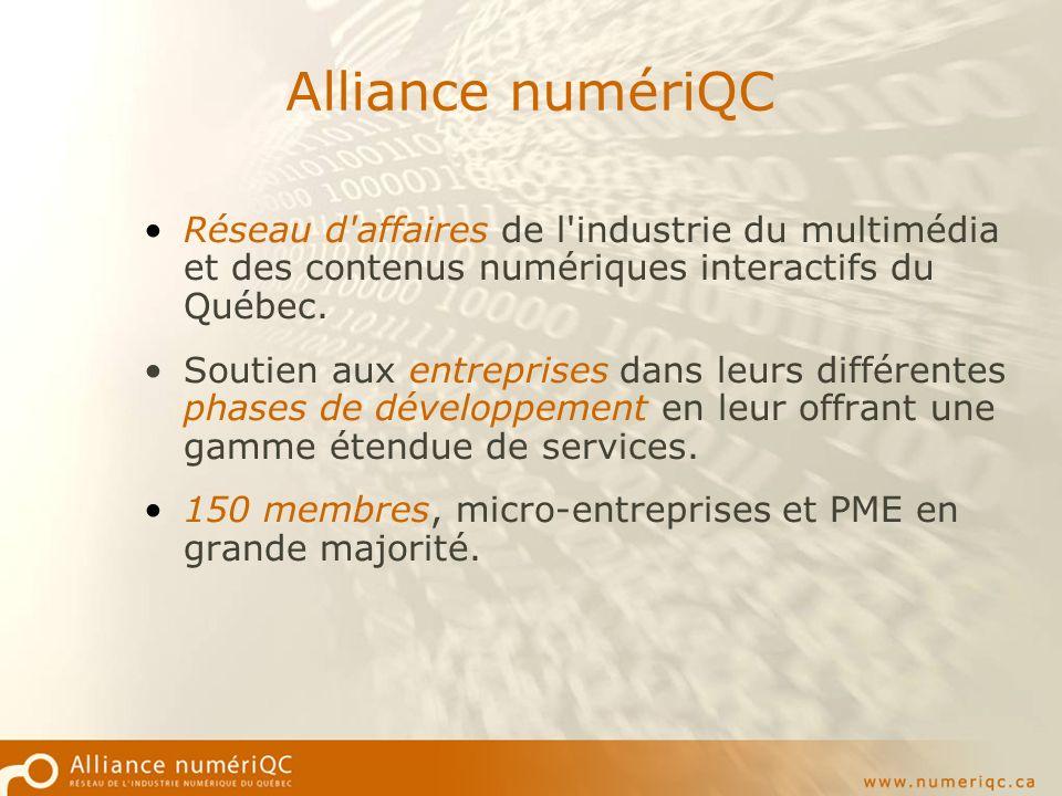 Bulletin et site numériQC Portail de lindustrie et vitrine pour les membres du réseau.