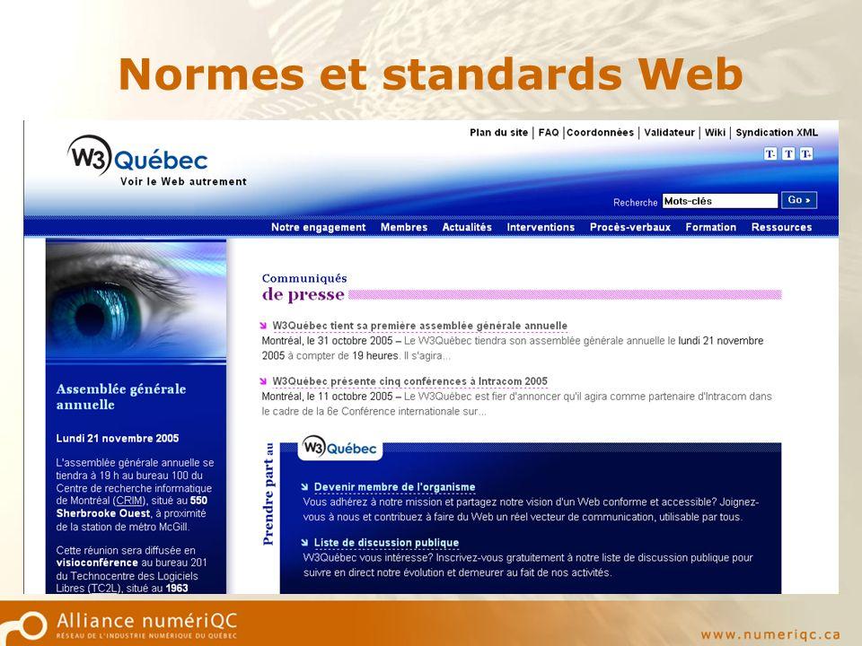 Normes et standards Web