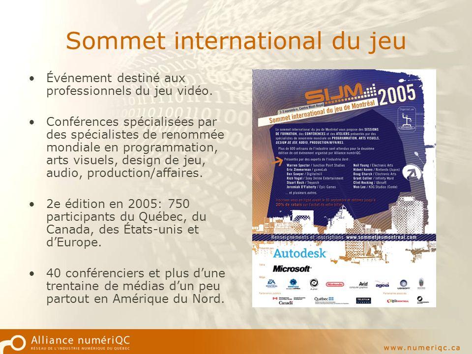 Sommet international du jeu Événement destiné aux professionnels du jeu vidéo.
