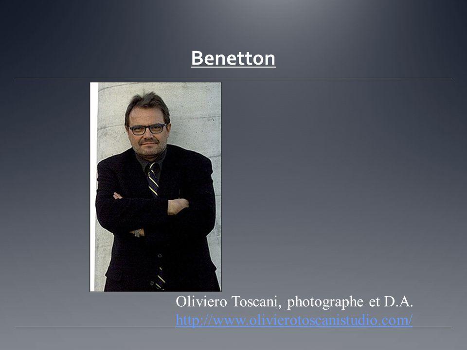 Benetton Oliviero Toscani, photographe et D.A. http://www.olivierotoscanistudio.com/