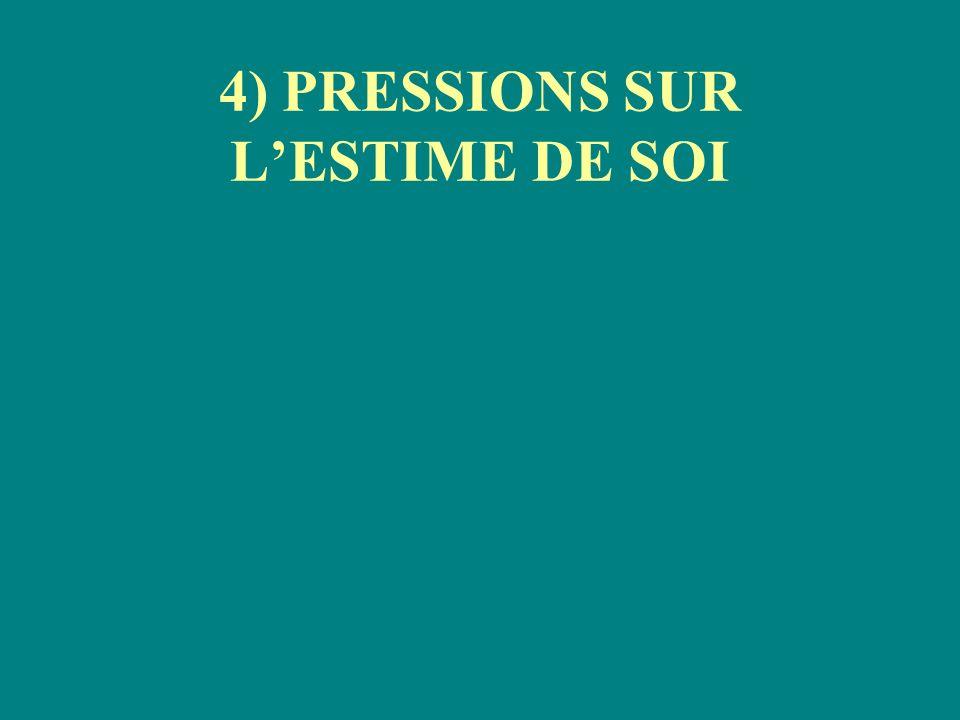 4) PRESSIONS SUR LESTIME DE SOI