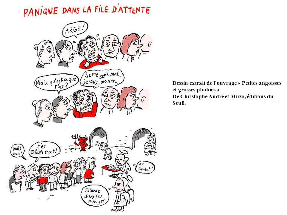 Dessin extrait de louvrage « Petites angoisses et grosses phobies » De Christophe André et Muzo, éditions du Seuil.
