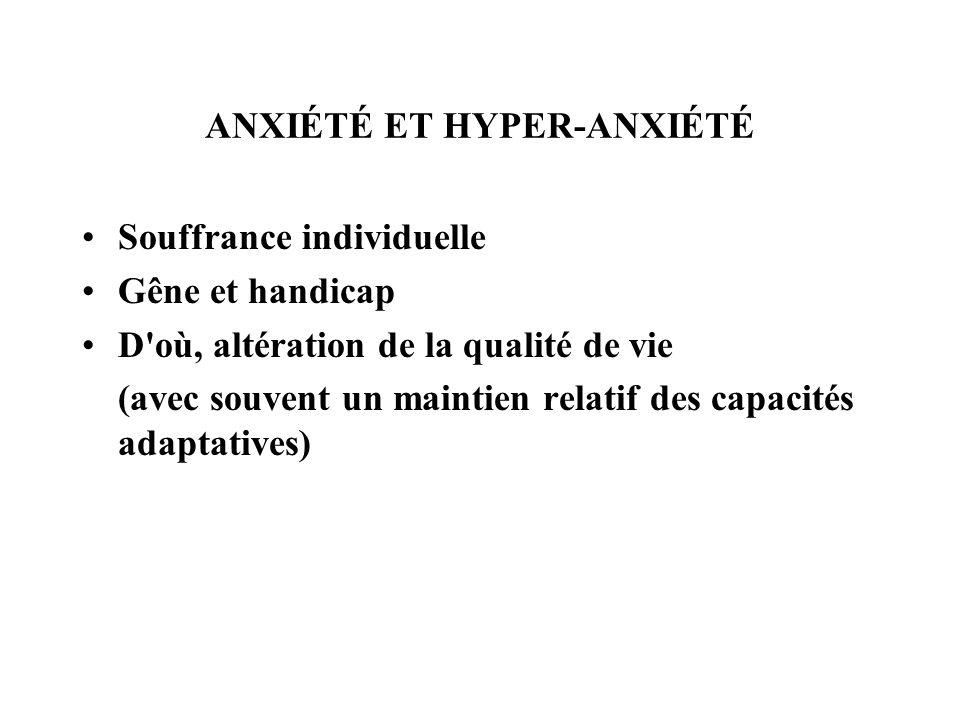 COMMENT CLASSER LES MALADIES DE L ANXIÉTÉ .