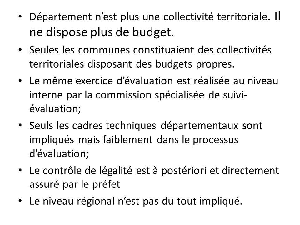 Département nest plus une collectivité territoriale.