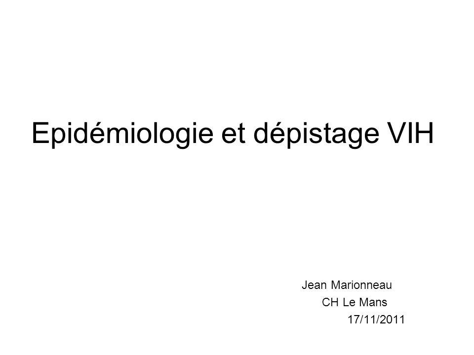 Le contexte Persistance dune épidémie active en France (et dans le monde) Echecs de dépistage Fort taux de dépistage dans la population générale mais Encore 50000 personnes infectées non prises en charge (18-61 000) Dépistage tardif du VIH à un stade sida: 20% des nouveaux diagnostics VIH Notification simultanée VIH / sida: 46% des cas de sida Surmortalité persistante chez les personnes traitées à un stade avancé