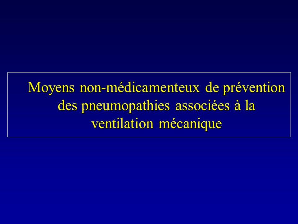 Moyens non-médicamenteux de prévention des pneumopathies associées à la ventilation mécanique